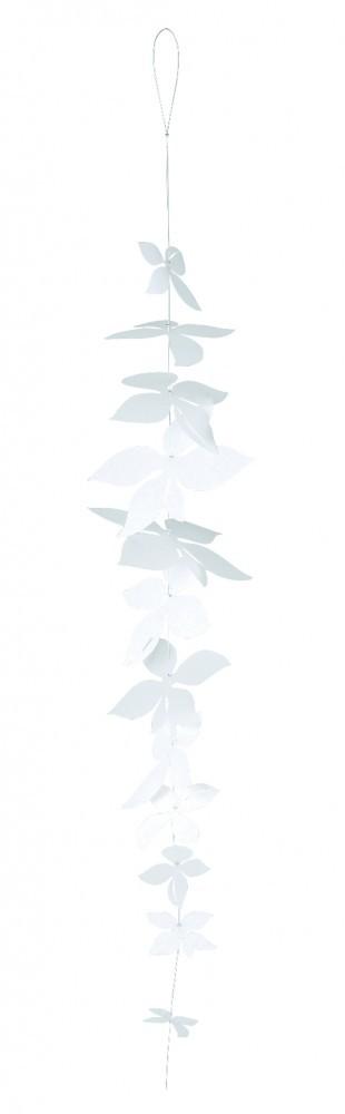 White blossom dekoh nger fenster und raumdekoration wei dekokette 70 cm r der living h nger - Dekokette fenster ...