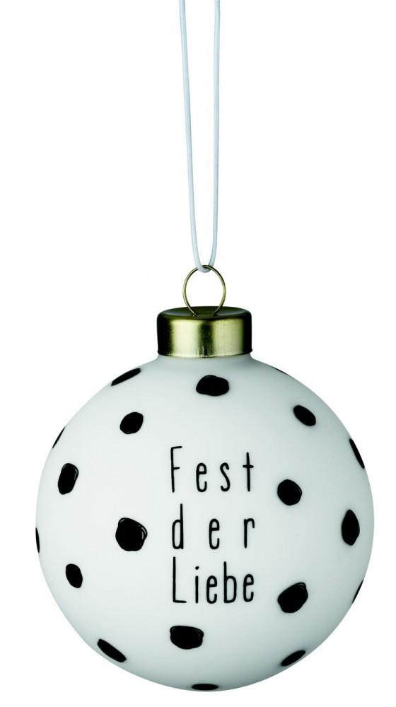 Weihnachtsdeko weihnachtskugel christbaumkugel wei mit for Weihnachtsdeko schwarz